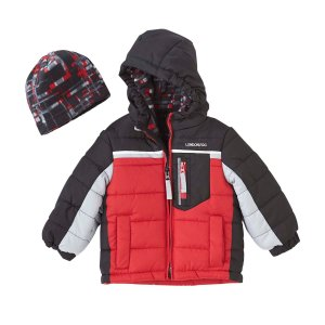 c6532db1a London FogLondon Fog® Baby Boys' 12-24 Months Colorblock Coat With Fleece  Hat