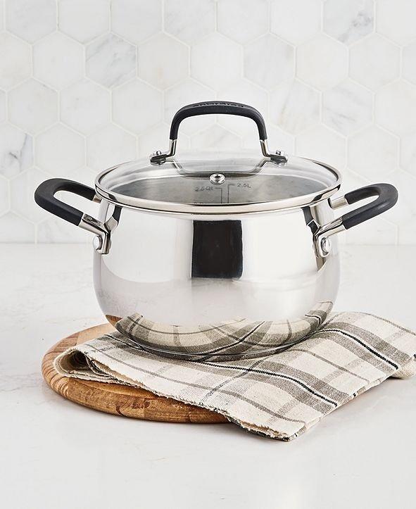 不锈钢汤锅3-Qt.