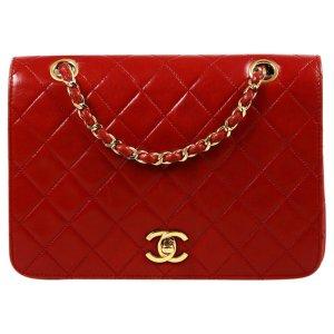 Chanel红色链条包