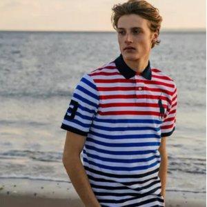 低至3.5折 + 包邮折扣升级:Polo Ralph Lauren 精选男、女装热卖 收经典Polo衫
