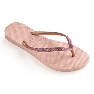 Havaianas纯色夹脚拖鞋