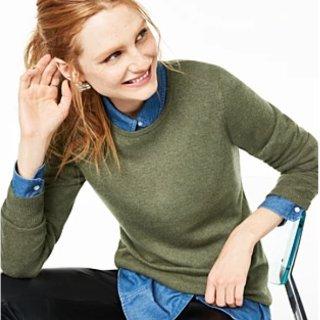 低至6折+额外7折macys.com 精选毛衣、羊绒衫等热卖