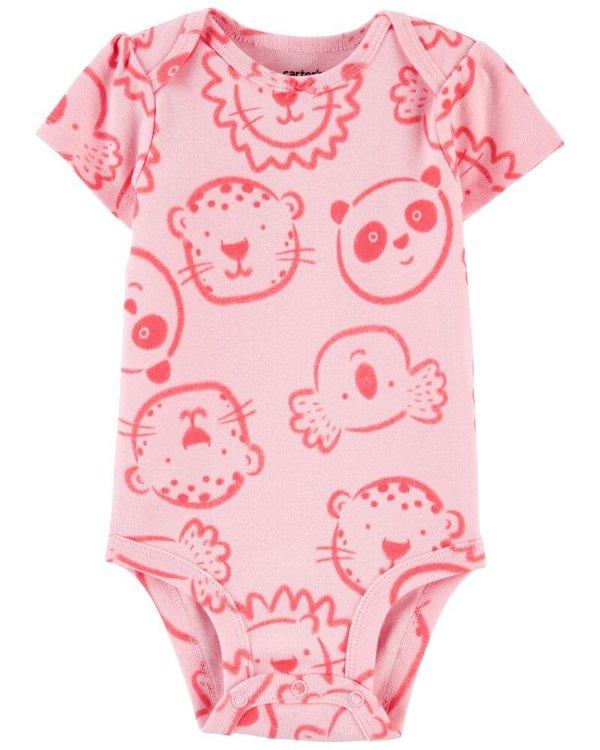 动物图案 婴儿包臀衫