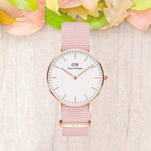 7折 $121.62(官网原价$175)Daniel Wellington 新款樱花粉28mm手表 撩翻少女心