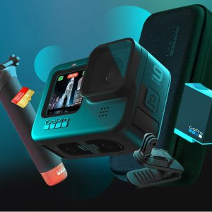 $349.98 包邮全搞定GoPro HERO9 Black 5K 运动相机 超值套装 + 1年官方订阅
