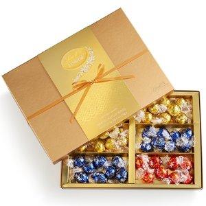Lindt买2立享75折巧克力金装礼盒 48颗