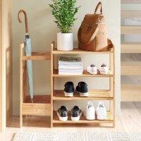竹制入户鞋架