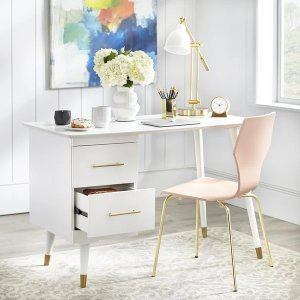 angelo:HOME Leon Mid-Century Desk - White