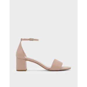 Pink Mary Jane Slingback Heels | CHARLES & KEITH US