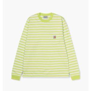 Carhartt白绿条纹长袖T恤