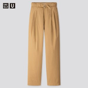 UniqloU系列 腰带直筒裤