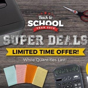 24支圆珠笔$1.99 12支铅笔$0.29123INK 学习用品 桌椅 开学季特卖 可调角度电竞椅$129