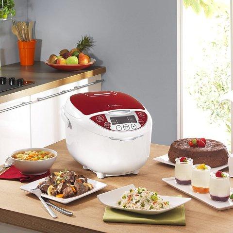 低至5.5折 €60收多功能电饭煲Moulinex 法国的厨房小家电热卖 收电饭煲、面包机等