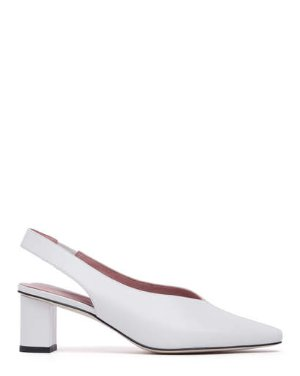 WALLACE - SLINGBACK SQUARE TOE BLOCK HEEL PUMPS | HEELS | All Shoes | Pedder Red
