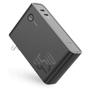Baseus USB C Portable Charger[GaN Tech], 10000mAh Power Bank Charger