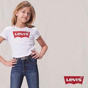 低至$11.99儿童T恤、长裤特卖,收Levi's、adidas