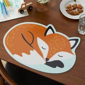 睡觉的狐狸餐垫