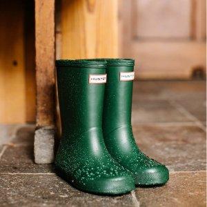 低至5折 €35收经典印花短靴Hunter官网季末大促 英国皇室的最爱 雨靴界的时尚Icon