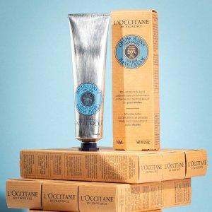 低至7.1折 +满送 9件好礼L'Occitane 全场美妆护肤热卖 收乳木果护手霜