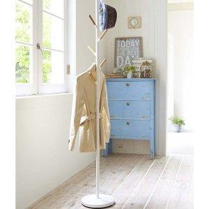 $74.62(原价$125.99)史低价:Yamazaki Home 时尚立式衣架  木质与钢的完美结合