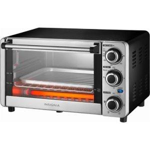 $19.99 (原价$39.99)Insignia 1100W 不锈钢 多功能 定时小型烤箱