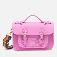 彩虹肩带粉紫色剑桥包