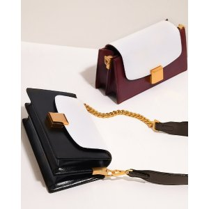Pedro ShoesKiss-Lock Leather Micro Bag with Lizard EffectKiss-Lock Leather Micro Bag with Lizard Effect Gold Buckled Mini Shoulder Bag in Two-Tone