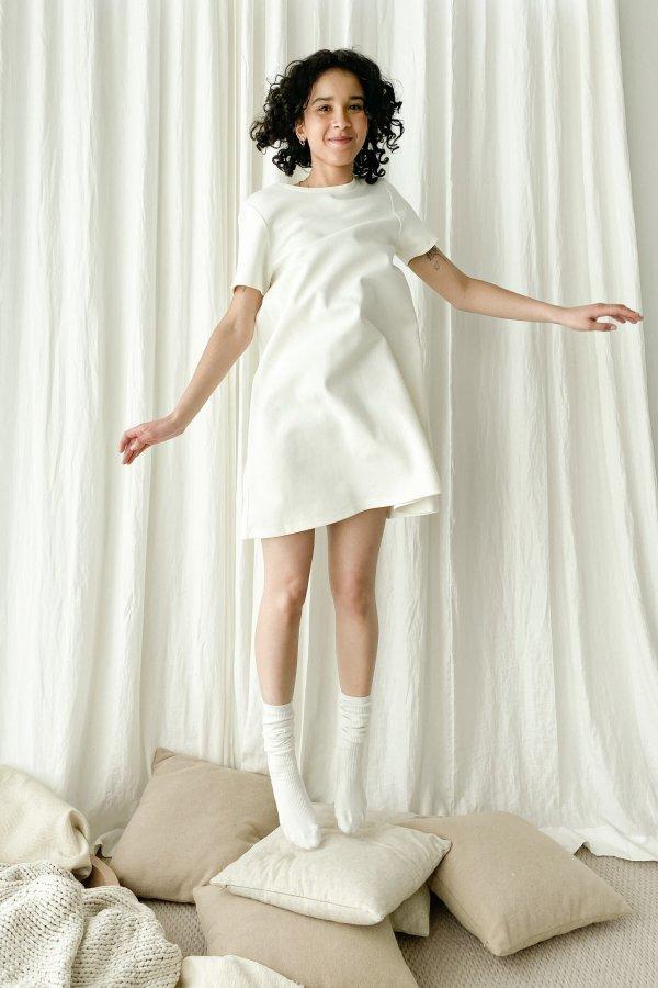 纯棉T恤裙 4437