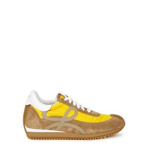 LoeweFlow Runner yellow panelled sneakers