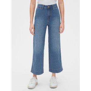 GapHigh Rise Wide-Leg Crop Jeans