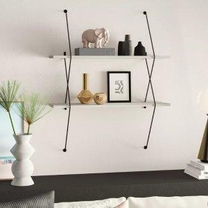 Mercury RowMcentee 2 Wall Shelf Set with Wire Bracket