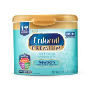 罕见半价 $57.96 (原价$114.98)手慢无:Enfamil 新生婴儿奶粉22盎司*4罐装