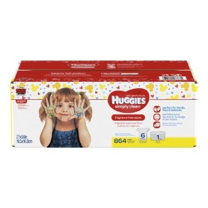 $17.97Huggies Simply Clean Baby Wipes, Unscented, Tub + 6 Refills (864 ct)