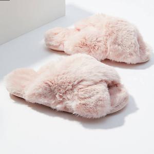 $12Faux Fur Slide Slippers