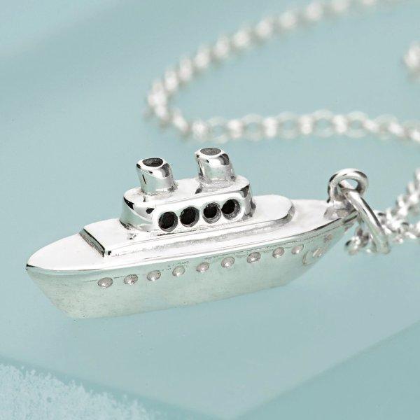 小银船项链