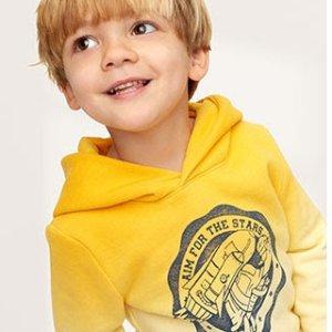 即将截止:GAP 儿童新款服饰优惠,T恤和毛衣一律5折