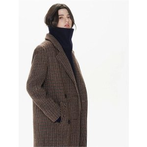 THE SUIN(Priority Shipping) Check Double Long Coat