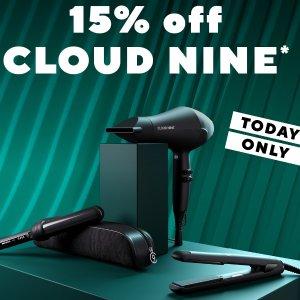 罕见8.5折+返$35、送3件套限今天:Cloud Nine 顶级美发造型工具 ghd姐妹品牌