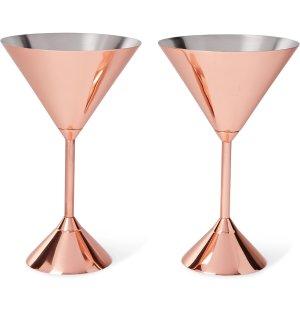 Tom Dixon - Plum Set of Two Copper-Plated Martini Glasses