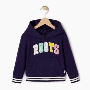 Roots紫色连帽卫衣