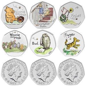 The Royal Mint免邮!单枚价格9枚彩色币组合