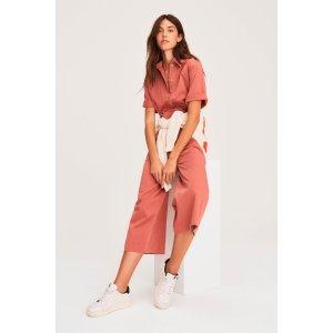 BA&SHBRIGITTE. Wideleg cotton jumpsuit