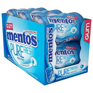 $9 (原价$14.94) 一颗清新口气白菜价:Mentos 曼妥思 木糖醇薄荷口味 夹心口香糖 50粒 6罐装