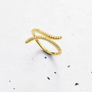 流线型开口戒指