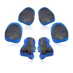 Yoreeto 儿童护具,护膝护腕护肘蓝色款全套收
