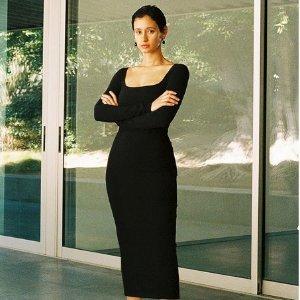 低至3.5折+包退 $66起夏日必败:SSENSE 连衣裙专场 $101收封面同款修身连衣裙