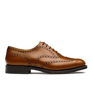 Burwood Polished Binder Oxford Brogue Brown