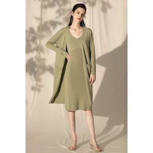 Ecru EmissaryGreen Long Cardigan