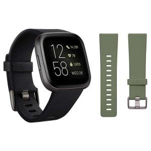 Fitbit Versa 2 Bundle, Black
