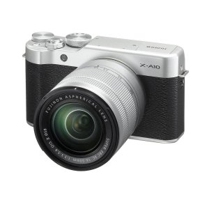 Fujifilm X-A10 Mirrorless Camera with XC 16-50mm f/3.5-5.6 OIS II , Silver